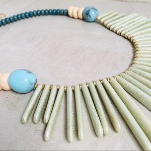 ANTHROPOLOGIE Azure Sky Bib Necklace